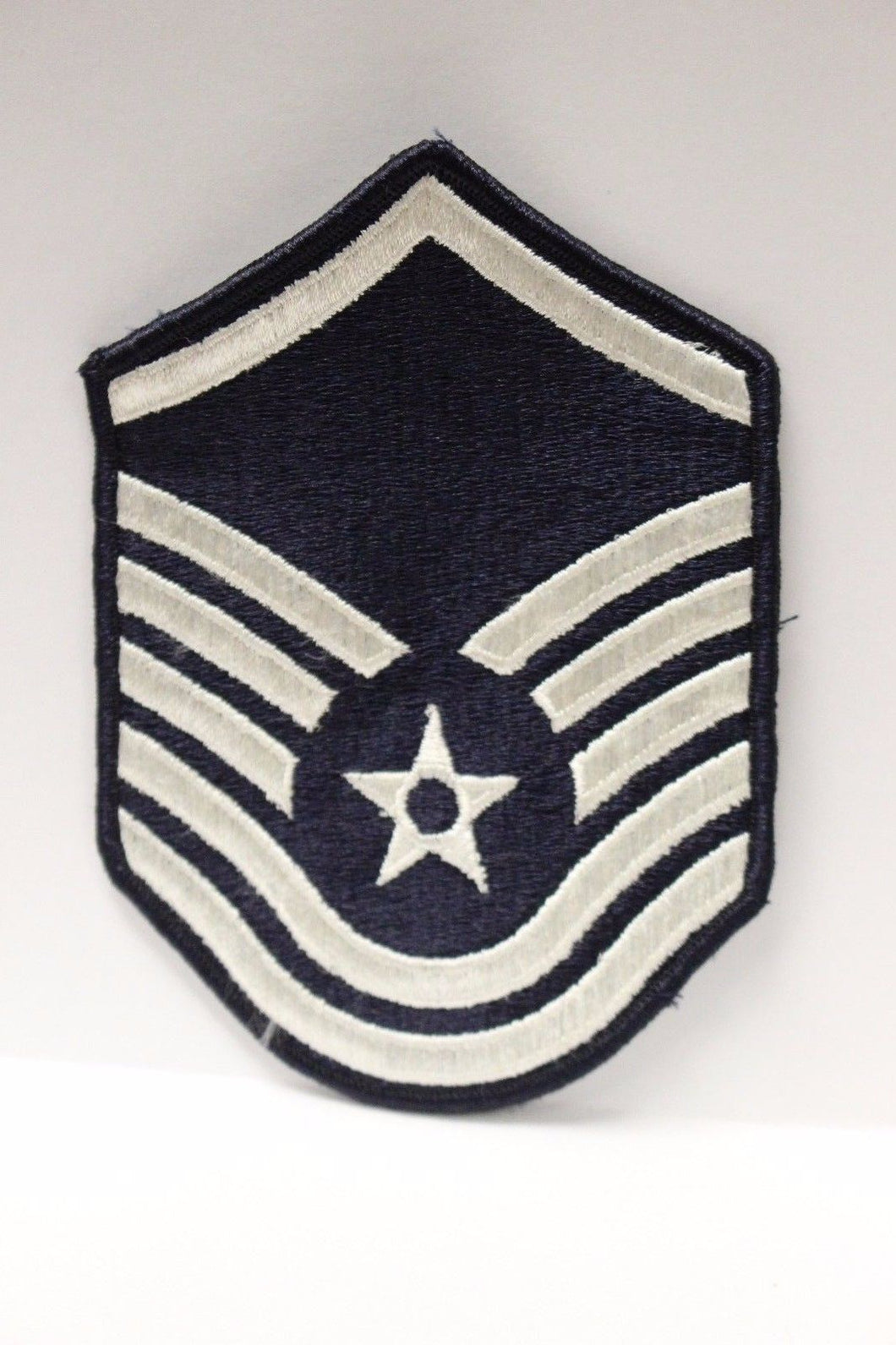 AF Air Force Embroidered Chevron Master Sergeant E-7, Medium, 3.75