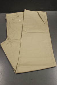 Lands' End Outfitters Men's Traditional Plain Khaki Chino Pants, Size: 42MR, New
