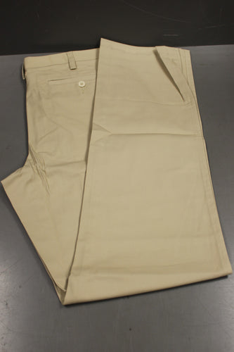 Lands' End Outfitters Men's Traditional Plain Khaki Chino Pants, Size: 50MB, New