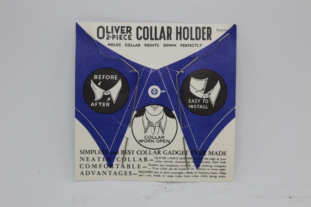Military Issued Oliver 2-Piece Collar Holder, Holds Collar Points Down Perfectly