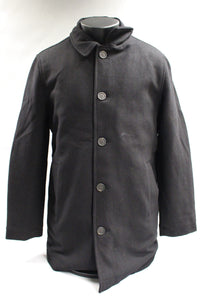 Amazon Essentials Men's Wool Blend Heavyweight Car Coat, Black, Medium, New