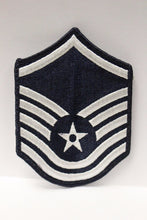 "Load image into Gallery viewer, AF Air Force Embroidered Chevron Master Sergeant E-7, Small, 3.5"","
