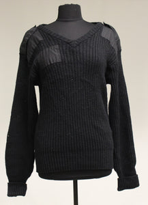 US Military Citadel Black V Neck Sweater, Size: Medium