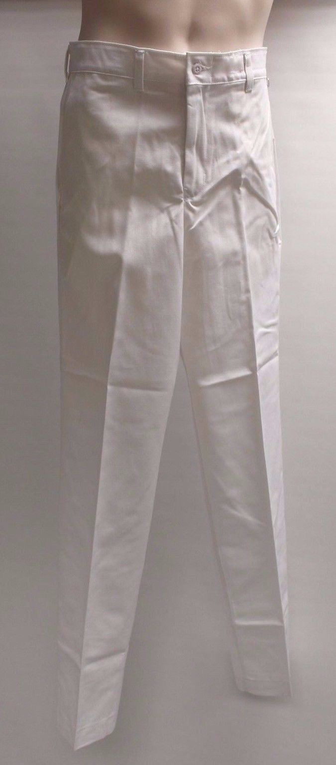 Men's Medical & Dental Personnel Uniform Trousers, 30x34, White, New