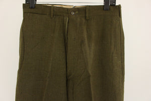 Men's 18 Oz. Olive Drab Wool Trousers, Size: W31xL33