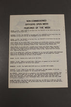 Load image into Gallery viewer, US Army Armor Center Daily Bulletin Official Notices, No 200, October 11, 1968