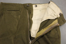Load image into Gallery viewer, Men's 18 Oz. Olive Drab Wool Trousers, Size: W31xL33