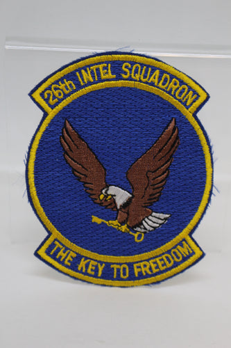 26th INTEL Squadron Patch, The Key To Freedom, Sew On