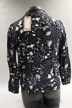Load image into Gallery viewer, Neiman Marcus Edina Black Floral Shirt, Size: Medium, New