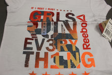 Load image into Gallery viewer, Reebok If I Rest I Rust / GRLS Run Ev3ry Th1ng T-Shirt, Small, New