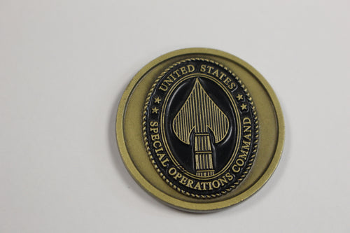 United States Special Operations Command, Army, Air Force, Navy, Marine Corps, Challenge Coin