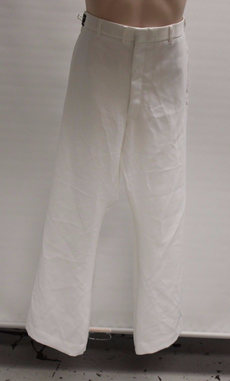 US Military Men's White Service Dress Trousers, Size: 35L, NSN 8405-01-076-0749
