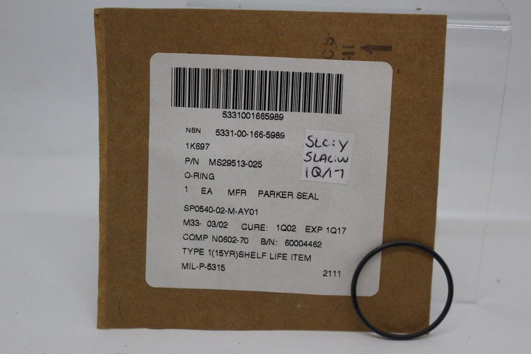 O-Ring Seal, 5331-00-166-5989, P/N MS29513-025