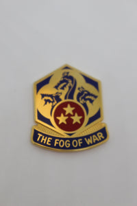 US Army 155th Chemical Battalion Unit Crest (The Fog of War) Pin, Used