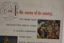 Load image into Gallery viewer, In The Service of its Country, The Fisher Body Org Builds Tanks Magazine Memorabilia