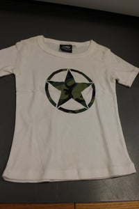 Rothco Camo Army Girls T-Shirt, White, Size: XS, New!