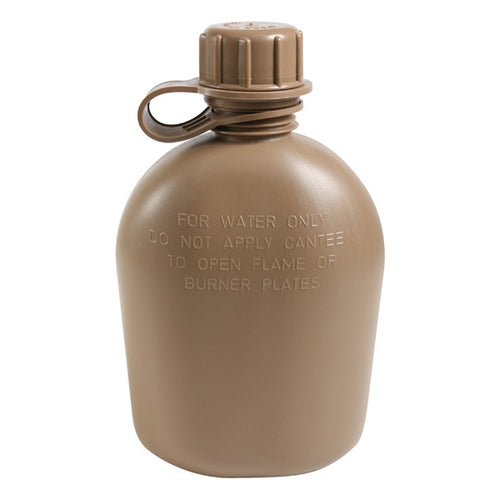 US Military 1 Qt. Water Canteen - Coyote Brown - New