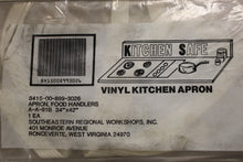 "Load image into Gallery viewer, Kitchen Safe Food Handler's Apron, Vinyl / Plastic, 34"" x 42"", New"