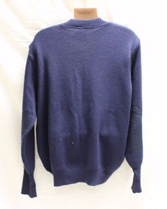 Women's Military Wool Blend V Neck Pullover Sweater with Elbow Patches, 14R
