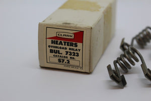 Clark Heaters Overload Relay, Bul. 7323, Catalog No S7.2, New