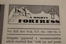 Load image into Gallery viewer, A Mighty Fortress, Vol XIX, Oct 1969, No 6, Published by the Lutheran Council