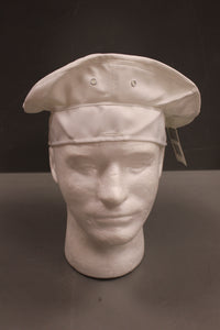 Man's Service Cap Crown, White, Type 1, Size: 7-1/4, 8405-01-268-3705, New