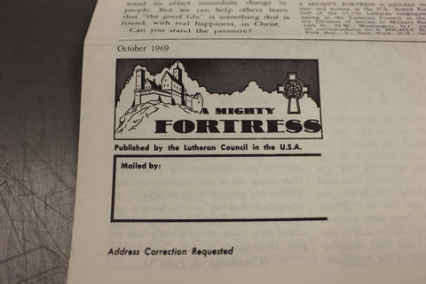 A Mighty Fortress, Vol XIX, Oct 1969, No 6, Published by the Lutheran Council