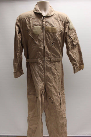 Men's Tan Summer Flyers Coveralls CWU - 27/P, Size: 40S, 8415-01-452-4865