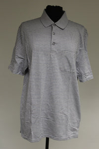 Haggar Clothing C18 Birdseye Polo, Gray, Medium, Used
