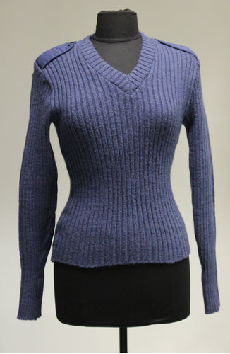 US Military AF V Neck Sweater with Elbow Patches, Size: 38