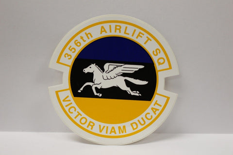 "356th Airlift Squadron VICTOR VIAM DUCAT Color Decal, 3-1/8"" x 3"" New"