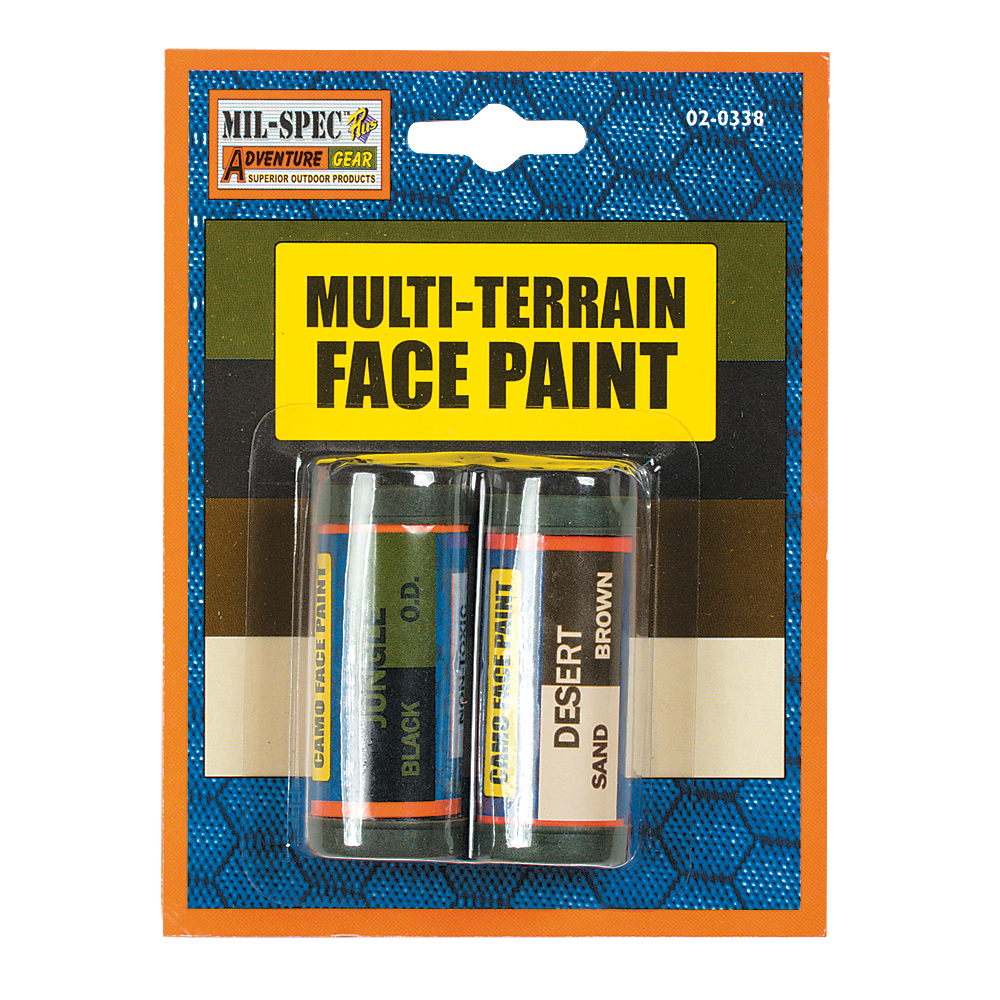 Multi-Terrain Face Paint - Sand, Brown, Black, OD - New