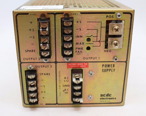 ACDC Electronics RT152 Power Supply, 115VAC,