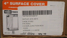 Load image into Gallery viewer, Box of 10 RACO 4 in Sq Single Gang Exposed Work Cover for GFCI Device, 808C, NEW
