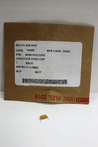 Ceramic Dielectric Fixed Capacitor, 5910-01-436-0402, M39014/22-0353, New