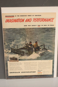 Army Imagination and Performance Chrysler Corp War Magazine Memorabilia