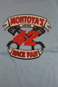 "Juan Pablo Montoya #42 Nascar ""I Love Racing"" Baby Onsie, Size: 18 Months, Blue, New!"