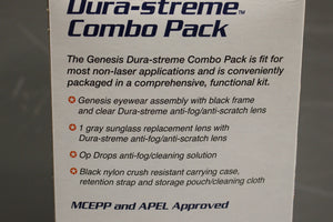 US Military Uvex Genesis Dura-streme Combo Pack, 4240-01-552-4131, New