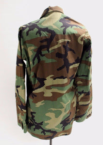 Woodland Combat Coat, Ripstop, Medium Long, 8415-01-390-8549, New