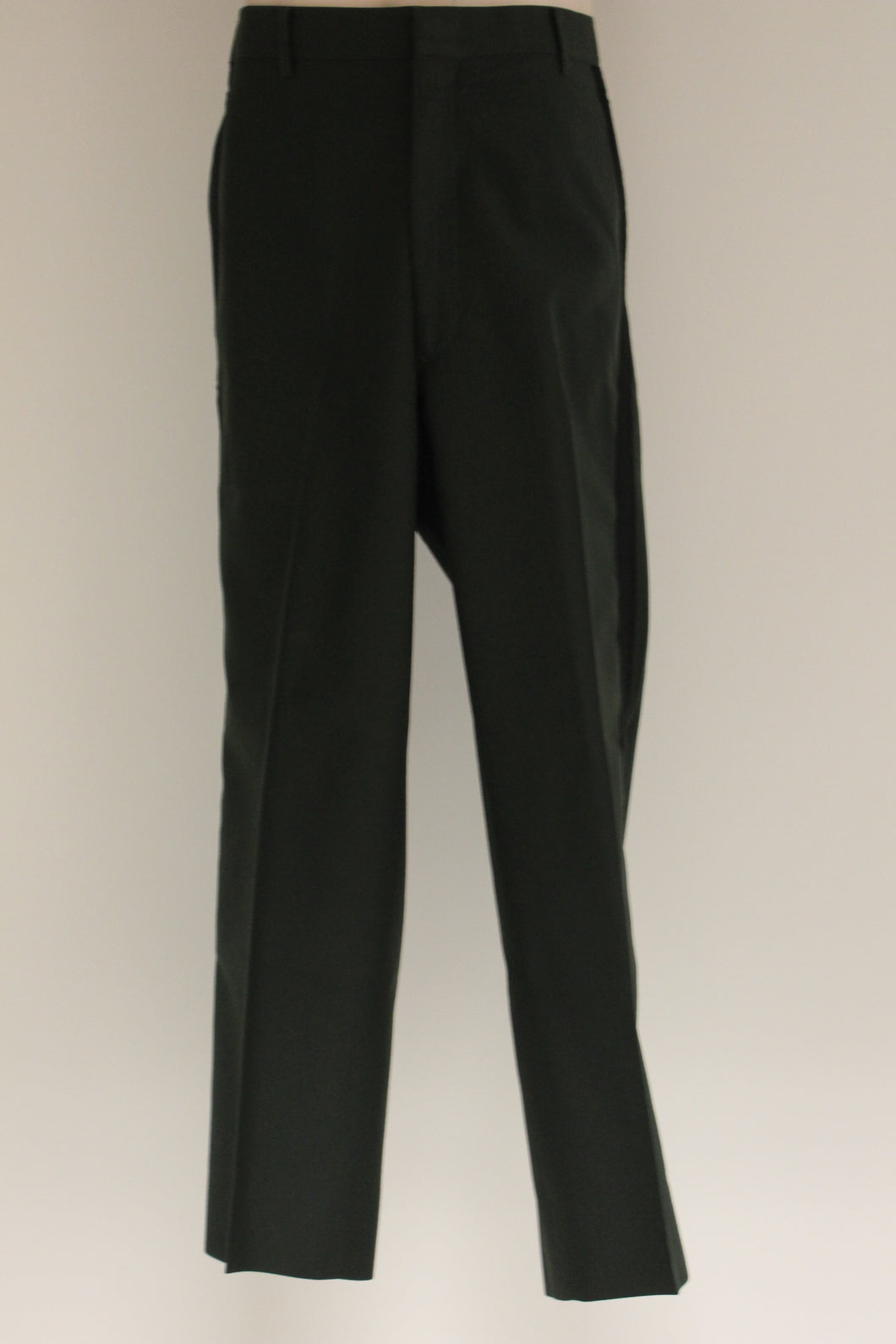US Military Men's Green Dress Trousers with Black Stripe, 8405-01-341-9998, Size: 35R