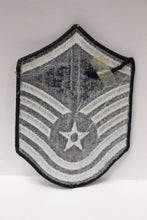 "Load image into Gallery viewer, AF Air Force Embroidered Chevron Master Sergeant E-7, Large, 4"","