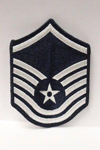 "AF Air Force Embroidered Chevron Master Sergeant E-7, Large, 4"","