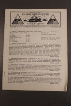 Load image into Gallery viewer, US Army Armor Center Daily Bulletin Official Notices, Year: 1969