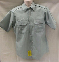 Load image into Gallery viewer, DSCP Green Garrison Short Sleeve Shirt Size:13 1/2 NSN: 8405-01-374-8887