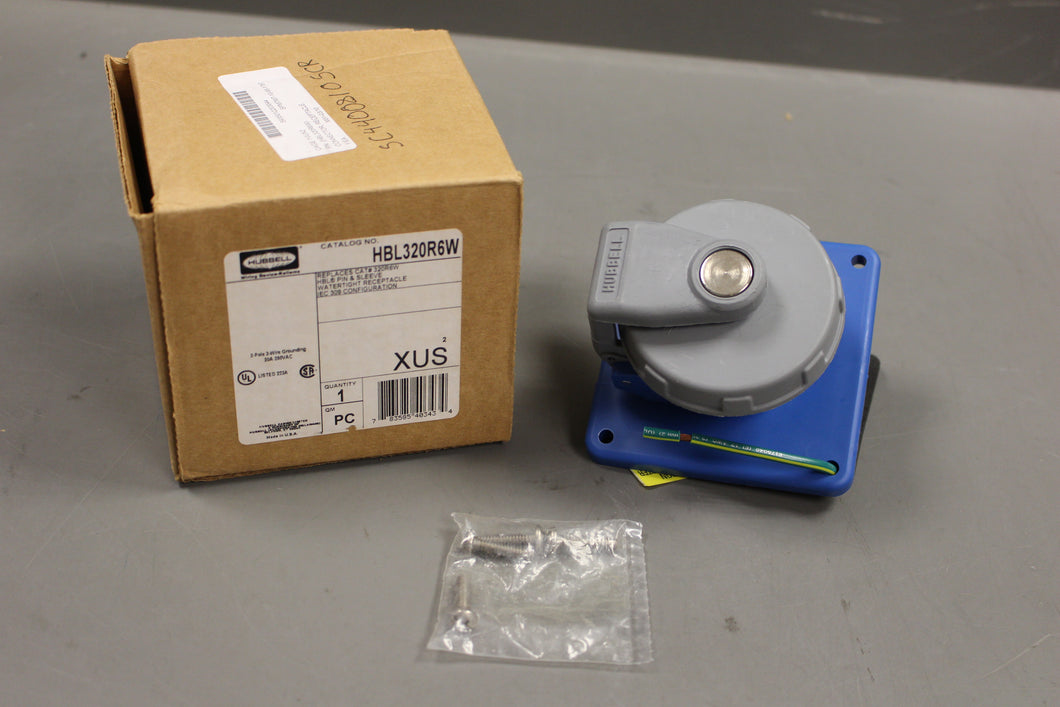 Hubbell Electrical Receptacle Connector & Inlets, 5935-01-220-3044, HBL320R6W, New!