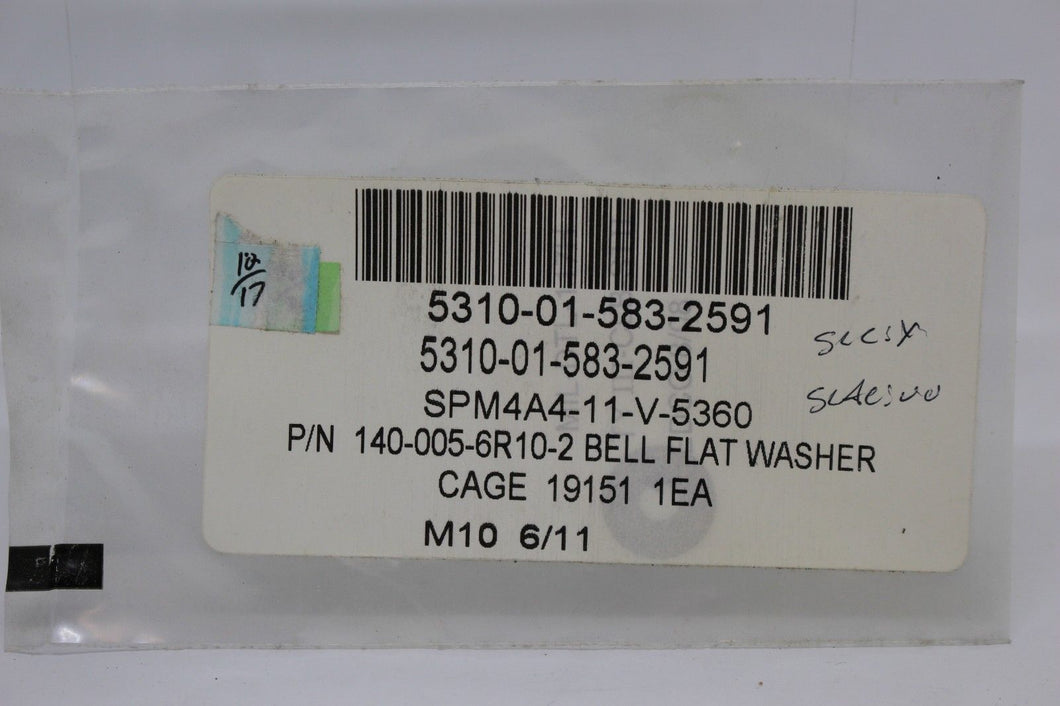 Flat Washer, 5310-01-583-2591, P/N 140-005-6R10-2, NEW!