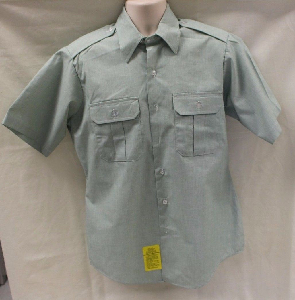 Dscp Army Mens Short Sleeve Dress Shirt Color Ag 415 Military