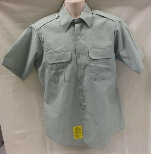 DSCP Army Men's Short Sleeve Dress Shirt, Color: AG 415
