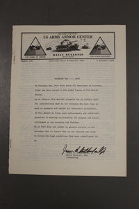 US Army Armor Center Daily Bulletin Official Notices, No 220, November 8, 1968