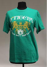 "Load image into Gallery viewer, UA ""O Tigers - Tigers Don't Need Luck"", Size: Medium, Green"
